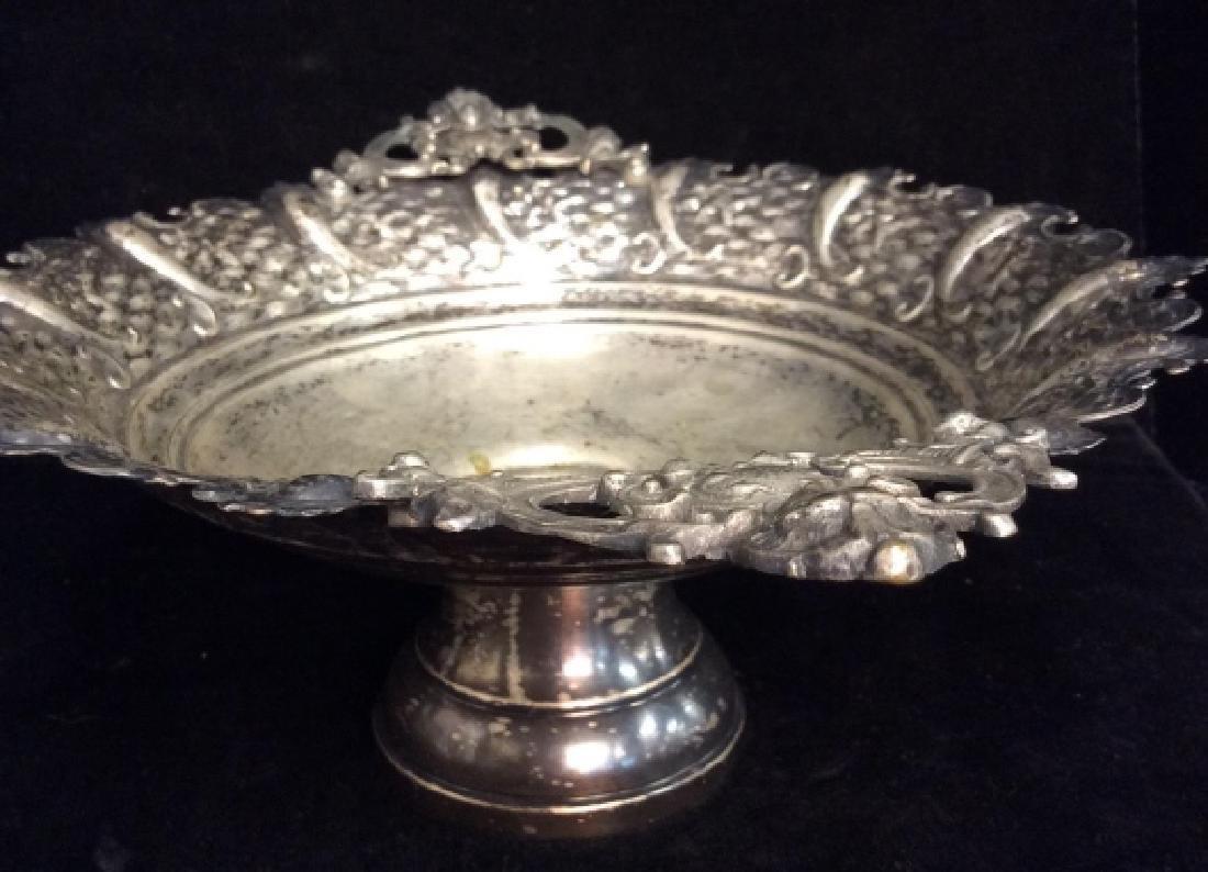Silver Toned Pedestal Centerpiece