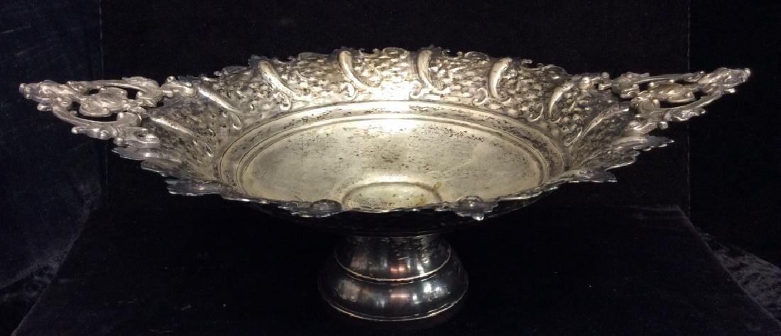 Silver Toned Pedestal Centerpiece - 2