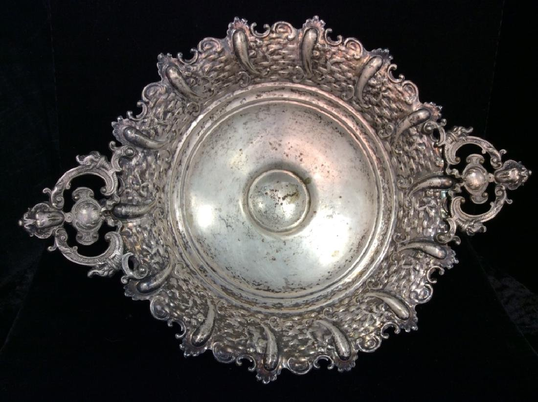 Silver Toned Pedestal Centerpiece - 3