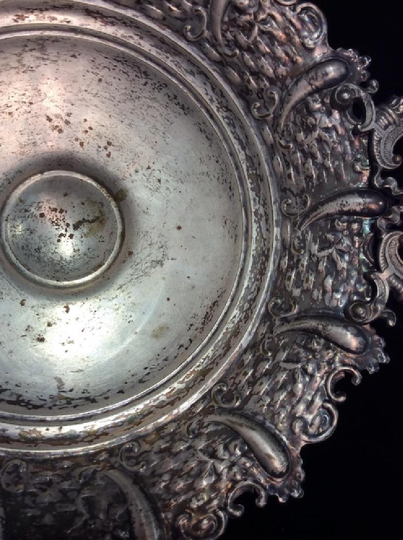 Silver Toned Pedestal Centerpiece - 4