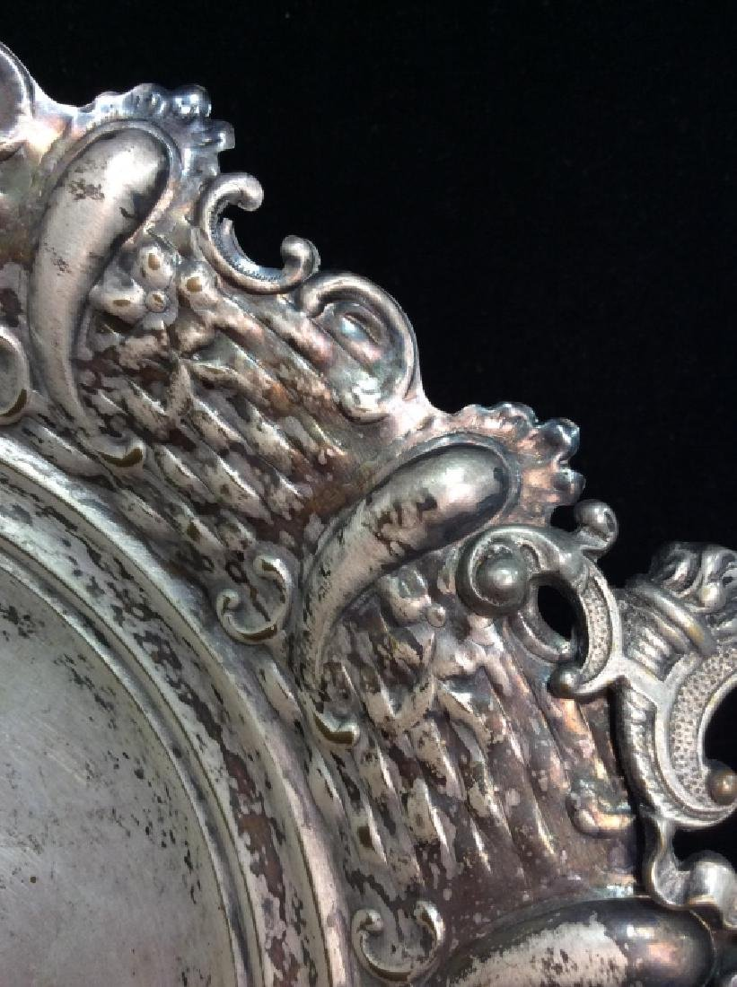 Silver Toned Pedestal Centerpiece - 5
