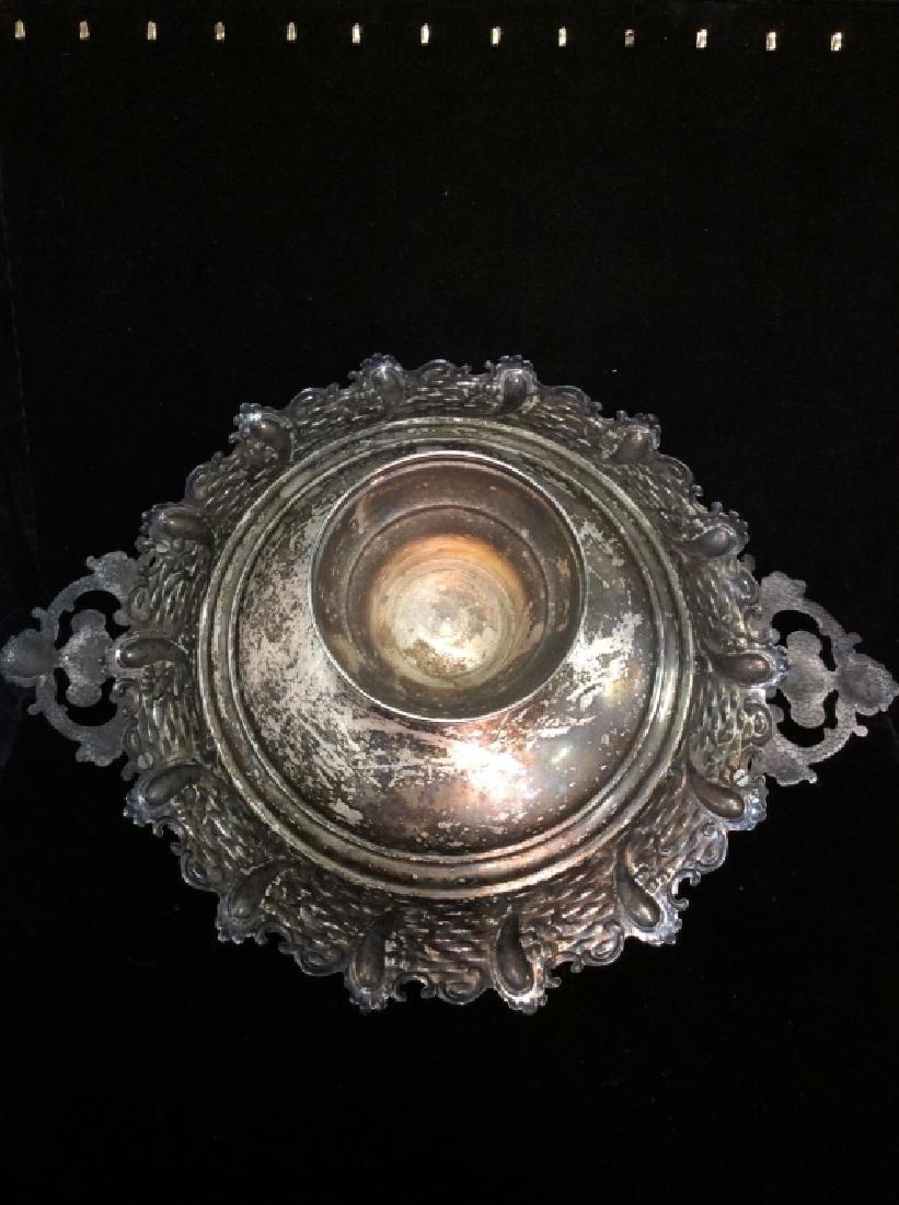 Silver Toned Pedestal Centerpiece - 8