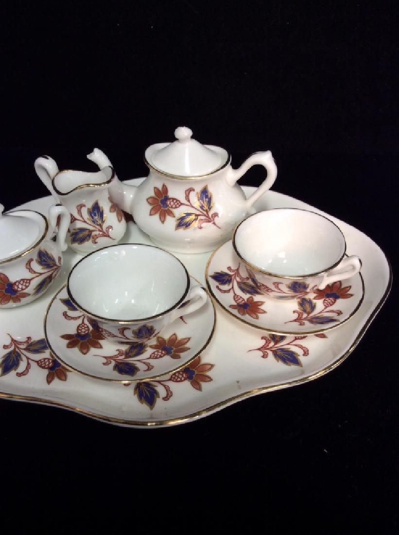 Set 8Vintage STAFFORDSHIRE Miniature Tea Set - 2