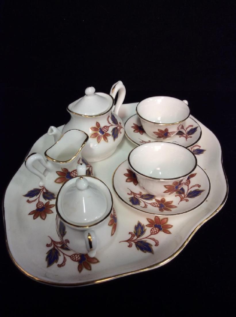 Set 8Vintage STAFFORDSHIRE Miniature Tea Set - 3