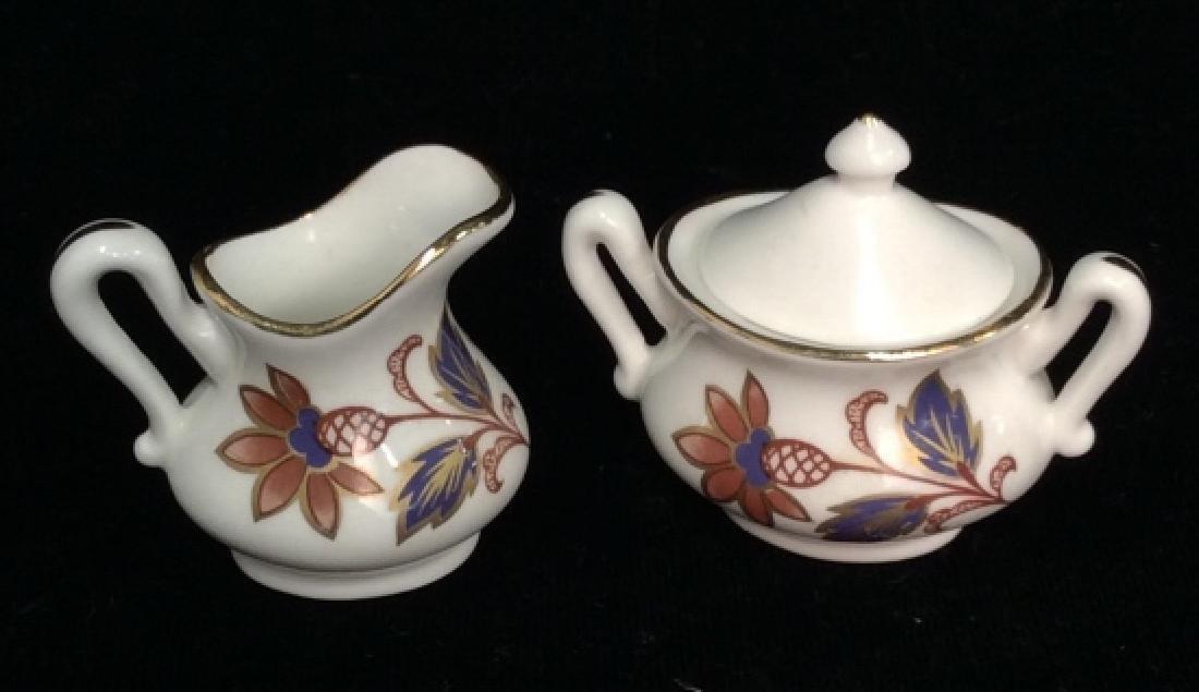 Set 8Vintage STAFFORDSHIRE Miniature Tea Set - 7