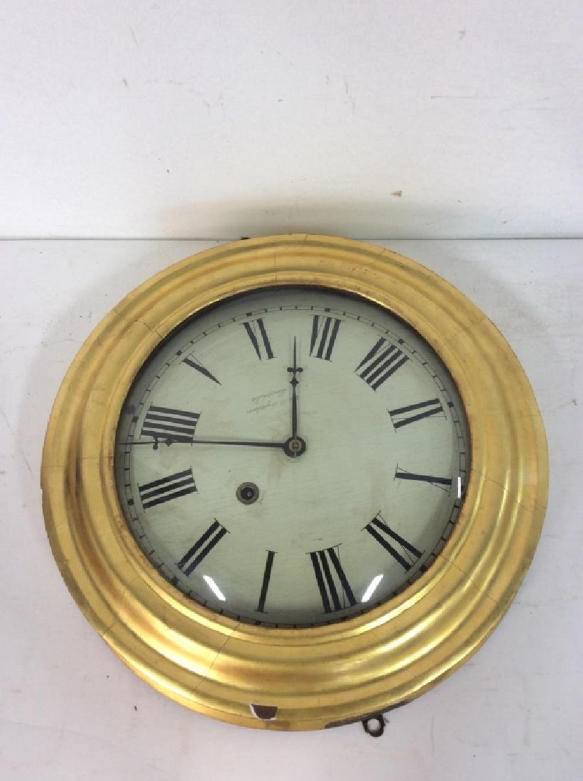 Gold Leafed E & A INGRAHAM BRISTOL Ltd Clock - 8