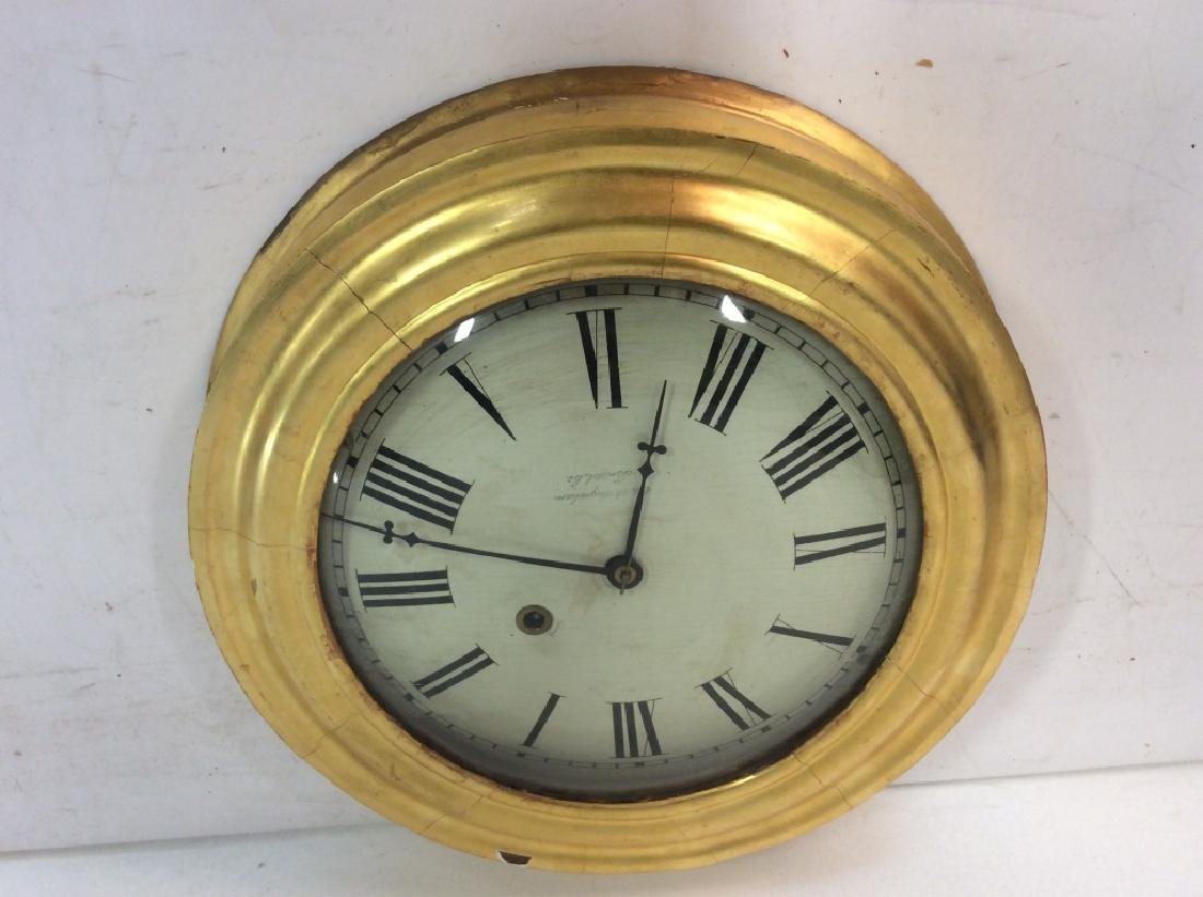 Gold Leafed E & A INGRAHAM BRISTOL Ltd Clock - 9