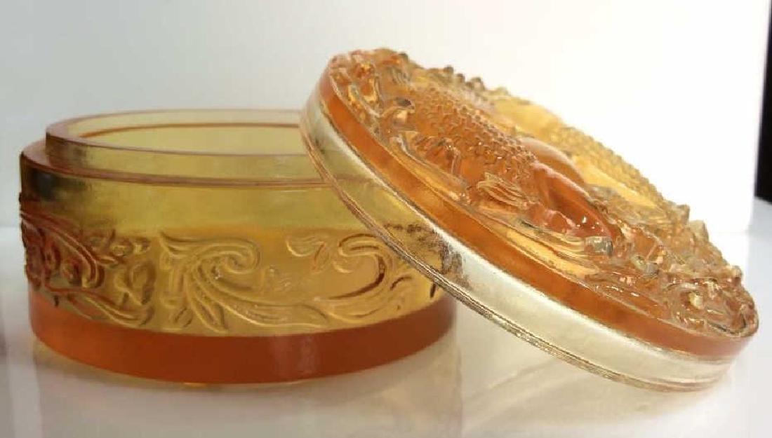 Orange Toned Art Glass Trinket Dish - 4