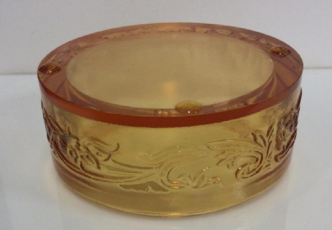 Orange Toned Art Glass Trinket Dish - 6