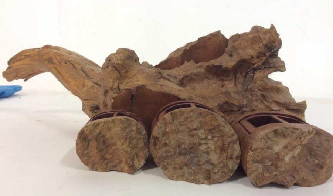 Organic Form Carved Wood Puzzle Box - 4