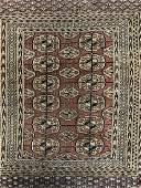 Vintage BOKHARA Handmade Persian Wool Rug