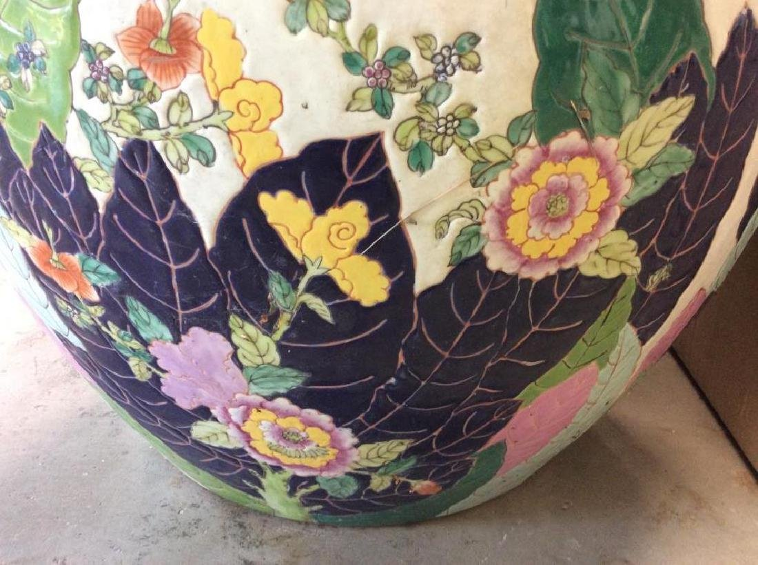 Signed Pair Large Asian Planters - 3