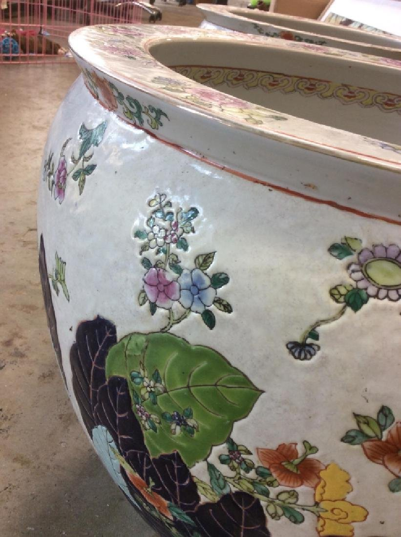 Signed Pair Large Asian Planters - 4