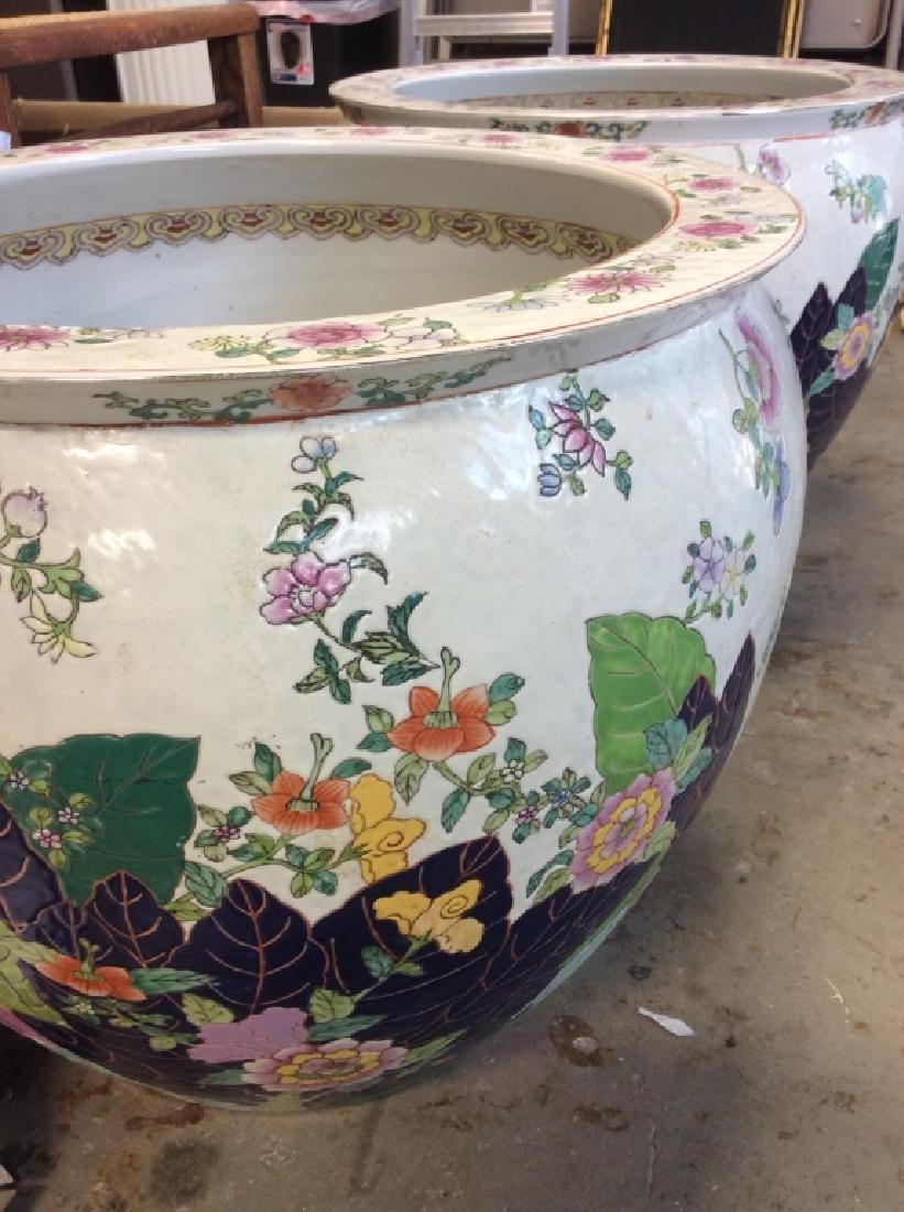 Signed Pair Large Asian Planters - 7