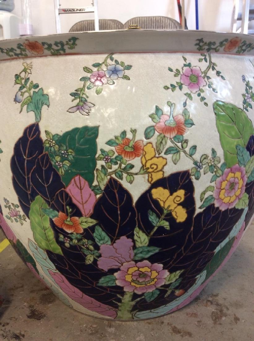 Signed Pair Large Asian Planters - 8