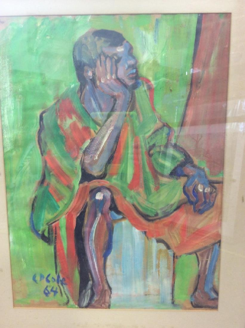 C D Cole Abstract Seated Figure Painting, 1964 - 2