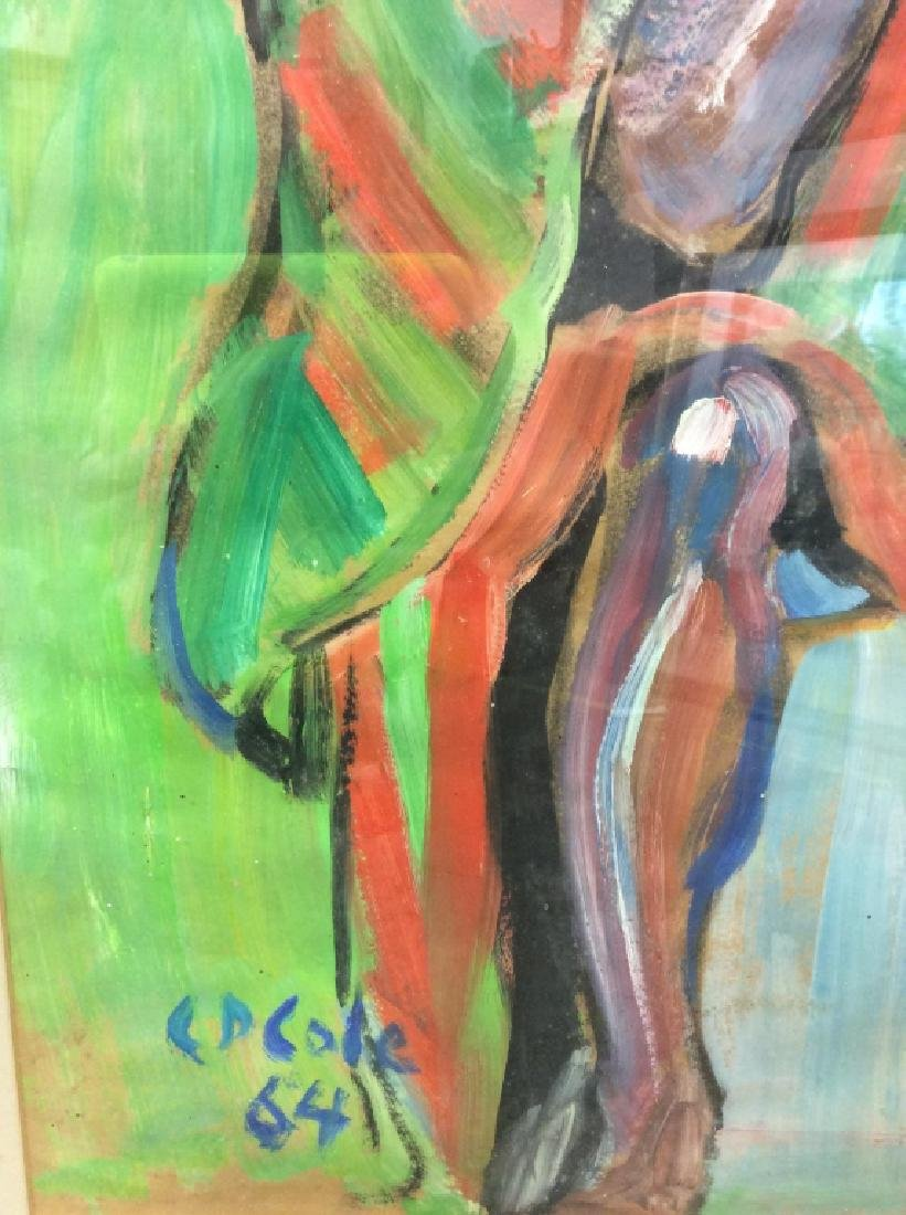 C D Cole Abstract Seated Figure Painting, 1964 - 6