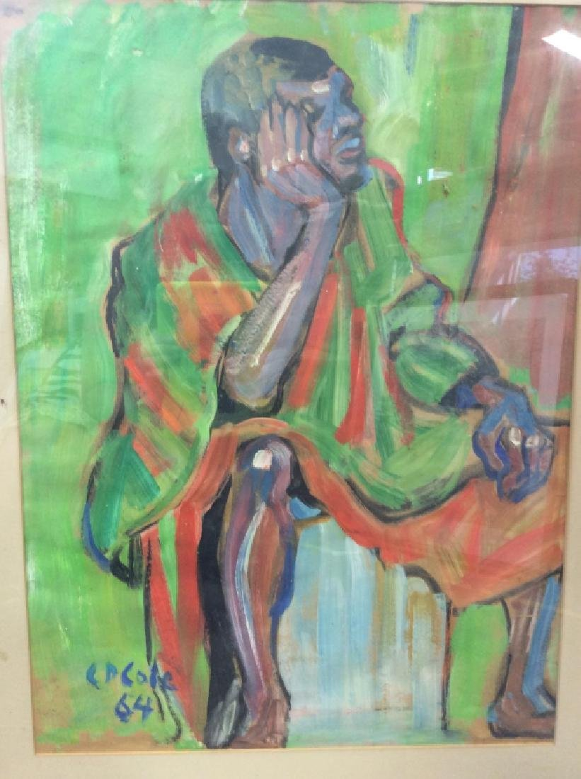 C D Cole Abstract Seated Figure Painting, 1964 - 7