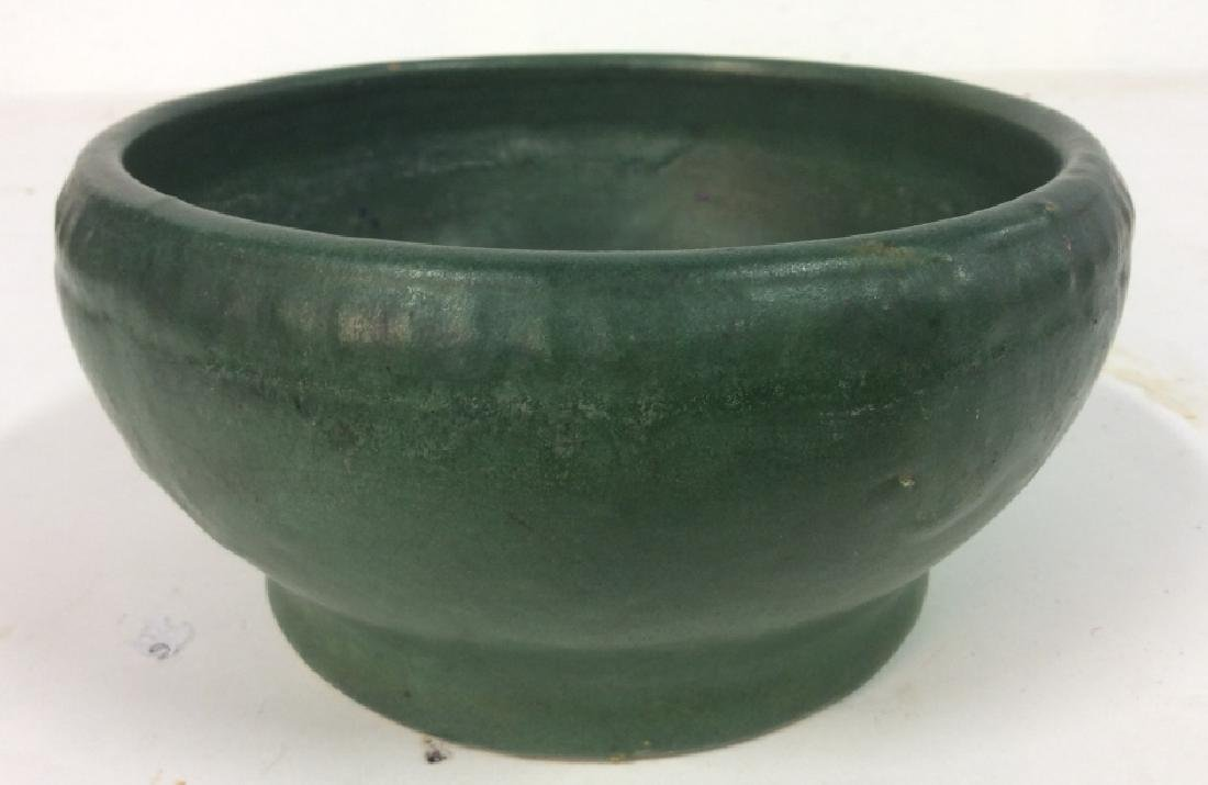 Hand Made Green Vintage Pottery Vessel
