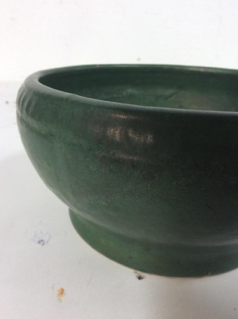 Hand Made Green Vintage Pottery Vessel - 5