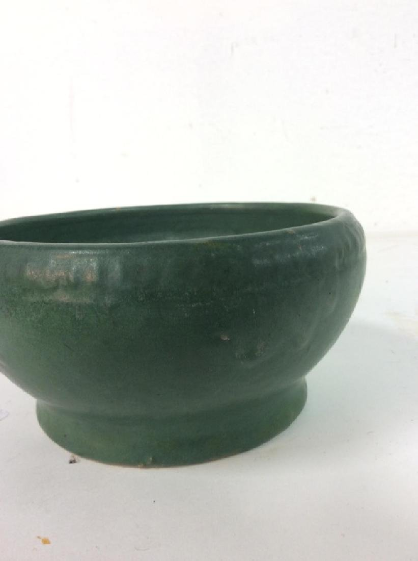 Hand Made Green Vintage Pottery Vessel - 6