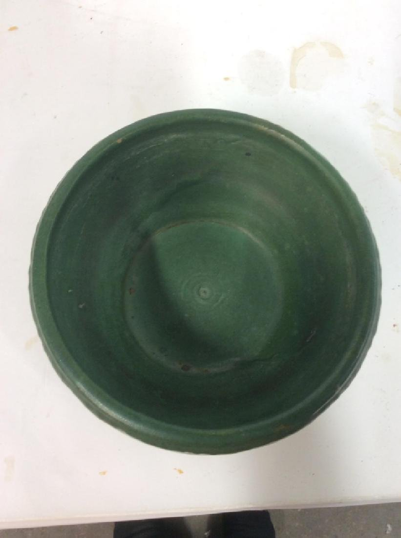 Hand Made Green Vintage Pottery Vessel - 7