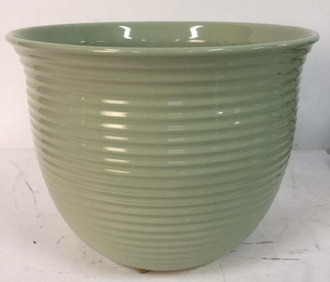 Sea Foam Green Ceramic Planter Pot