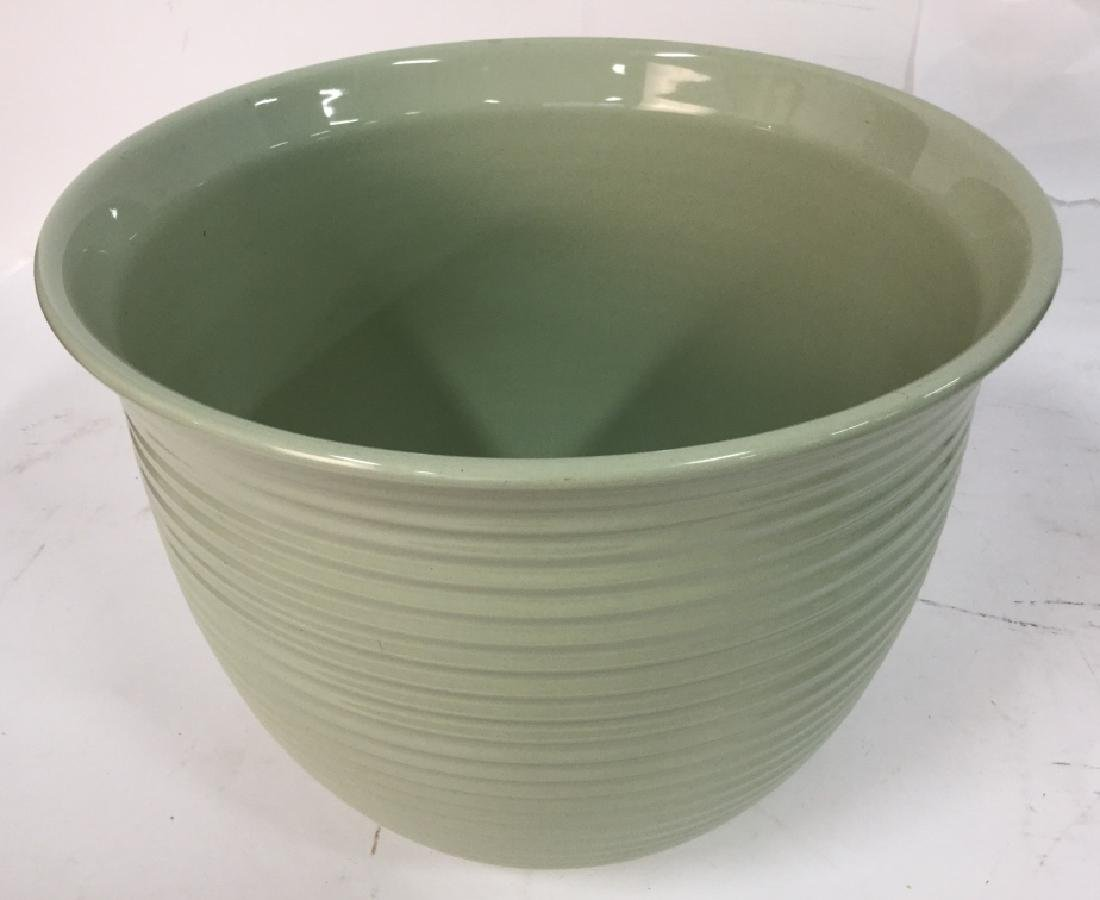 Sea Foam Green Ceramic Planter Pot - 3