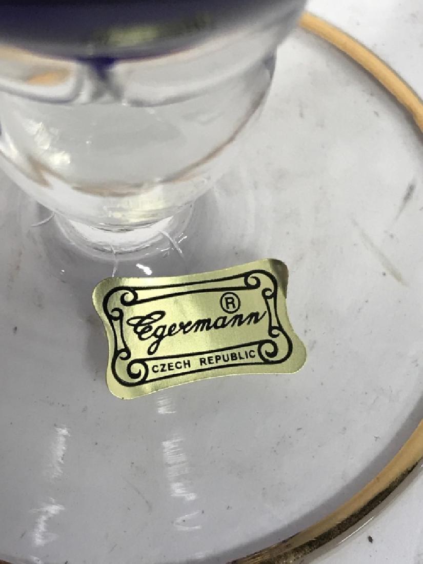Judaica EGERMANN CZECH Handblown Art Glass - 6
