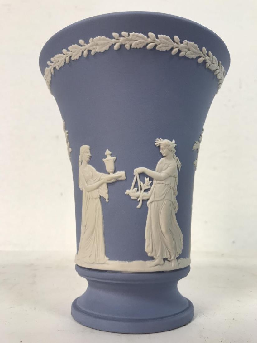 Light Blue Toned Footed WEDGWOOD Vase