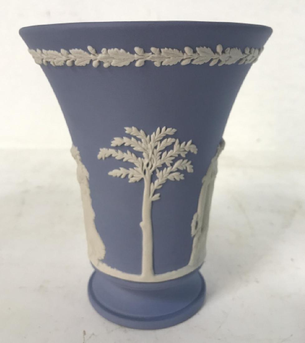 Light Blue Toned Footed WEDGWOOD Vase - 2