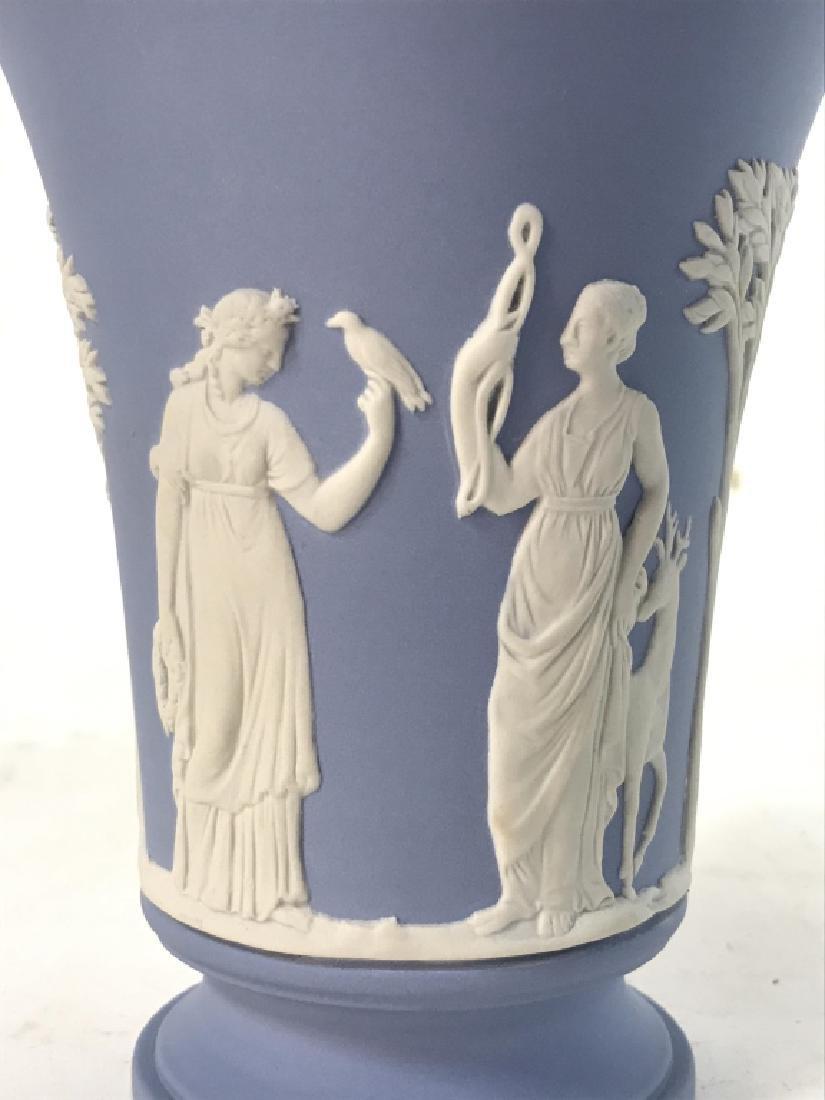 Light Blue Toned Footed WEDGWOOD Vase - 4