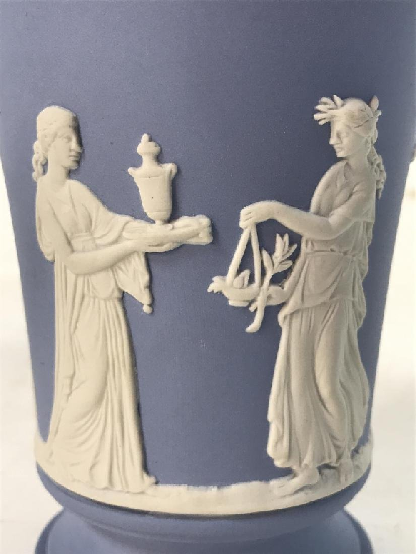 Light Blue Toned Footed WEDGWOOD Vase - 5
