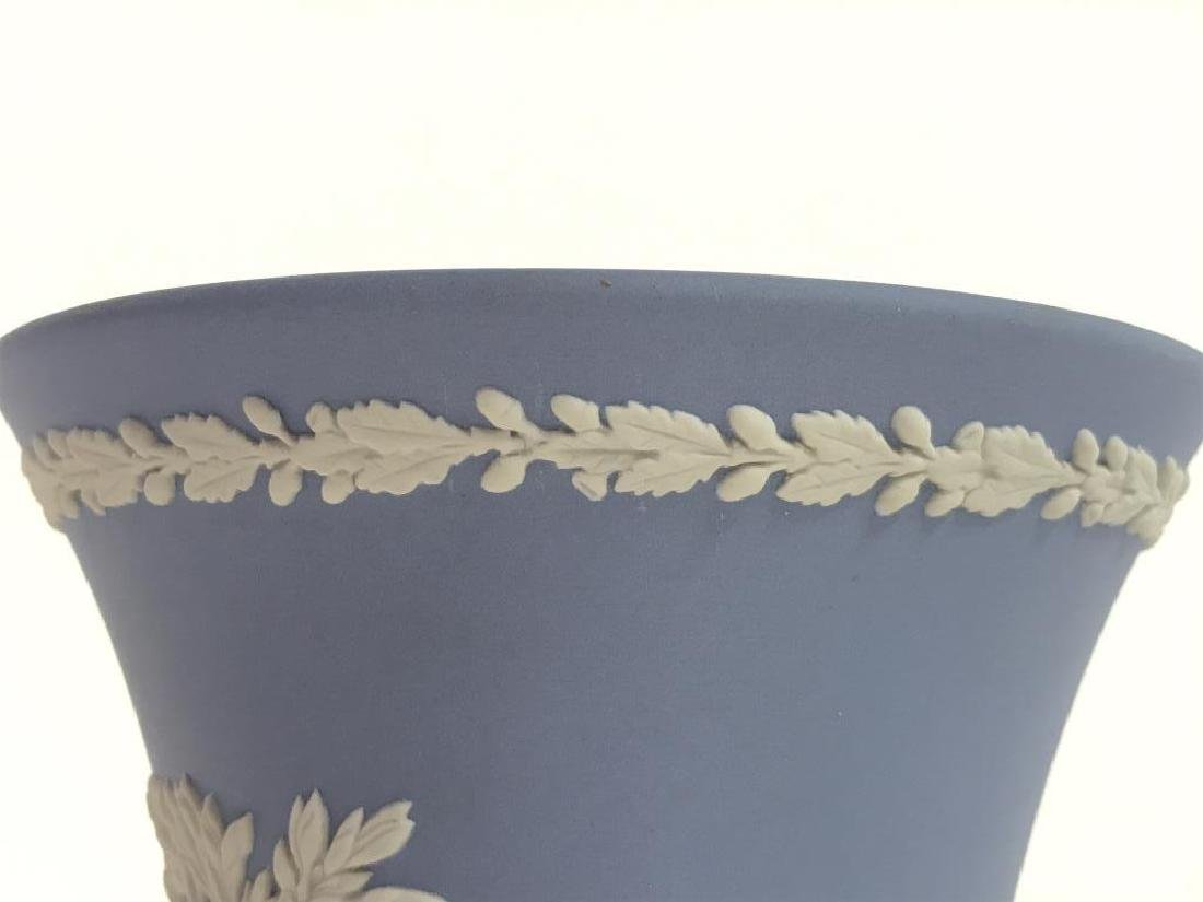 Light Blue Toned Footed WEDGWOOD Vase - 8