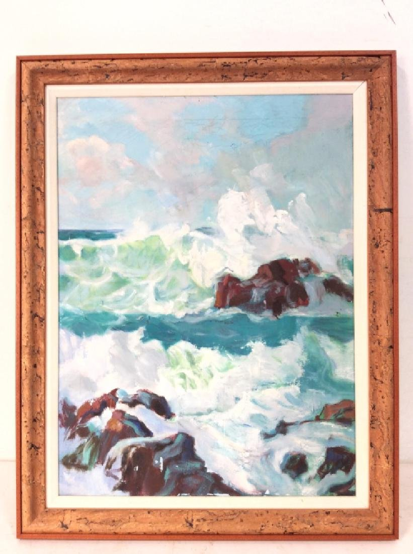 Framed Painting on Canvas Seascape
