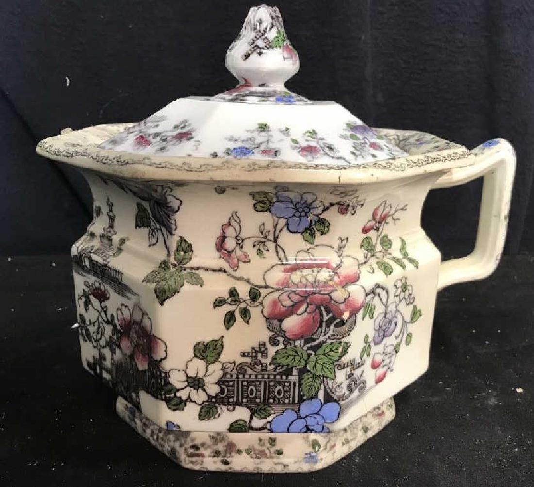 BRUNSWICK Ceramic Porcelain Floral Detailed Jar - 2