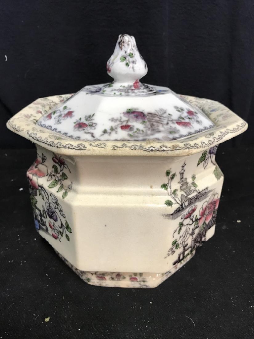 BRUNSWICK Ceramic Porcelain Floral Detailed Jar - 3