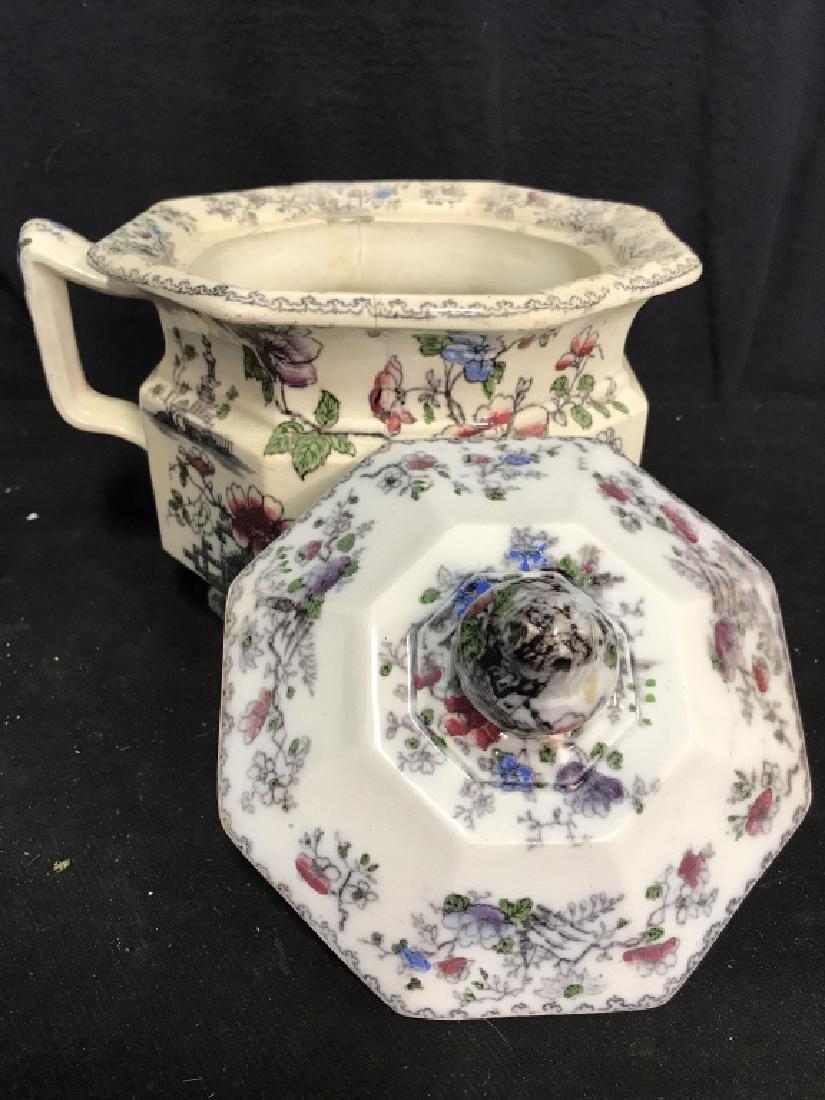 BRUNSWICK Ceramic Porcelain Floral Detailed Jar - 4