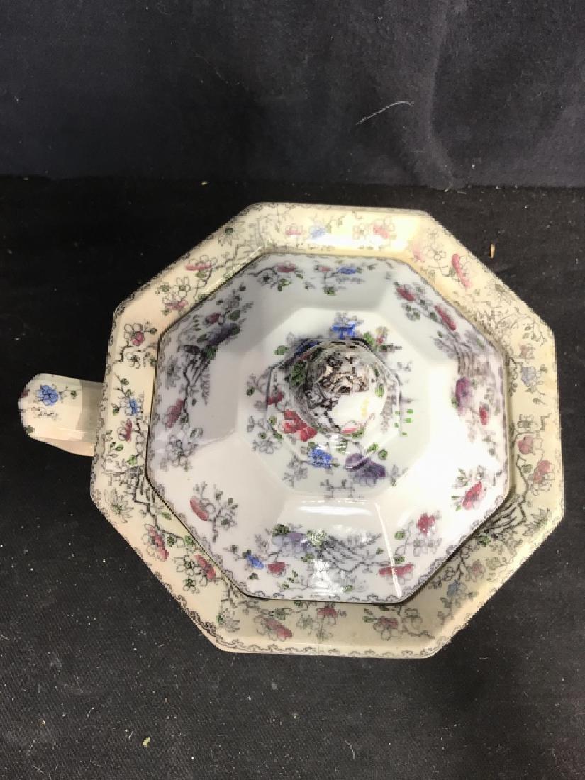 BRUNSWICK Ceramic Porcelain Floral Detailed Jar - 5