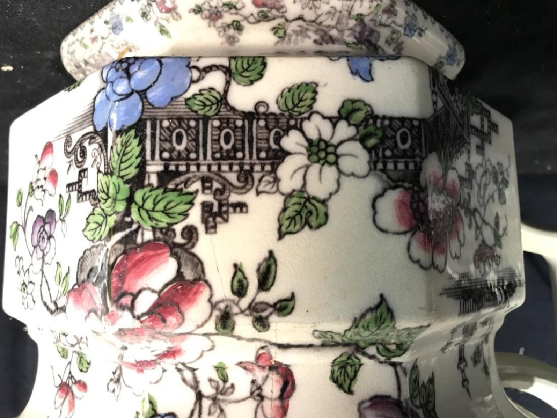 BRUNSWICK Ceramic Porcelain Floral Detailed Jar - 7