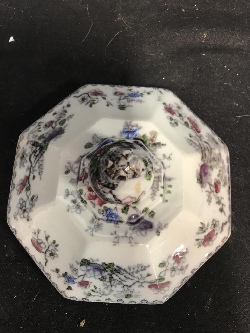 BRUNSWICK Ceramic Porcelain Floral Detailed Jar - 8