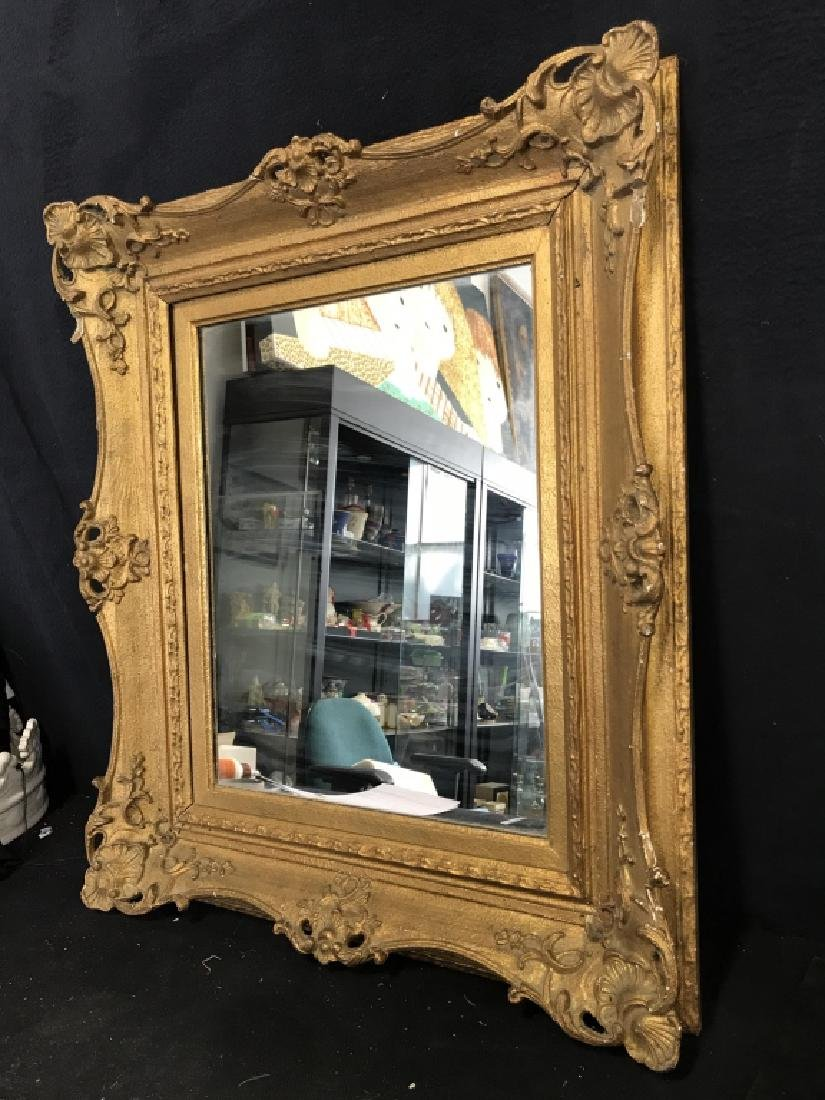 Vintage Gold Toned Ornate Mirror