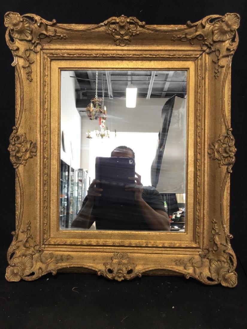 Vintage Gold Toned Ornate Mirror - 2