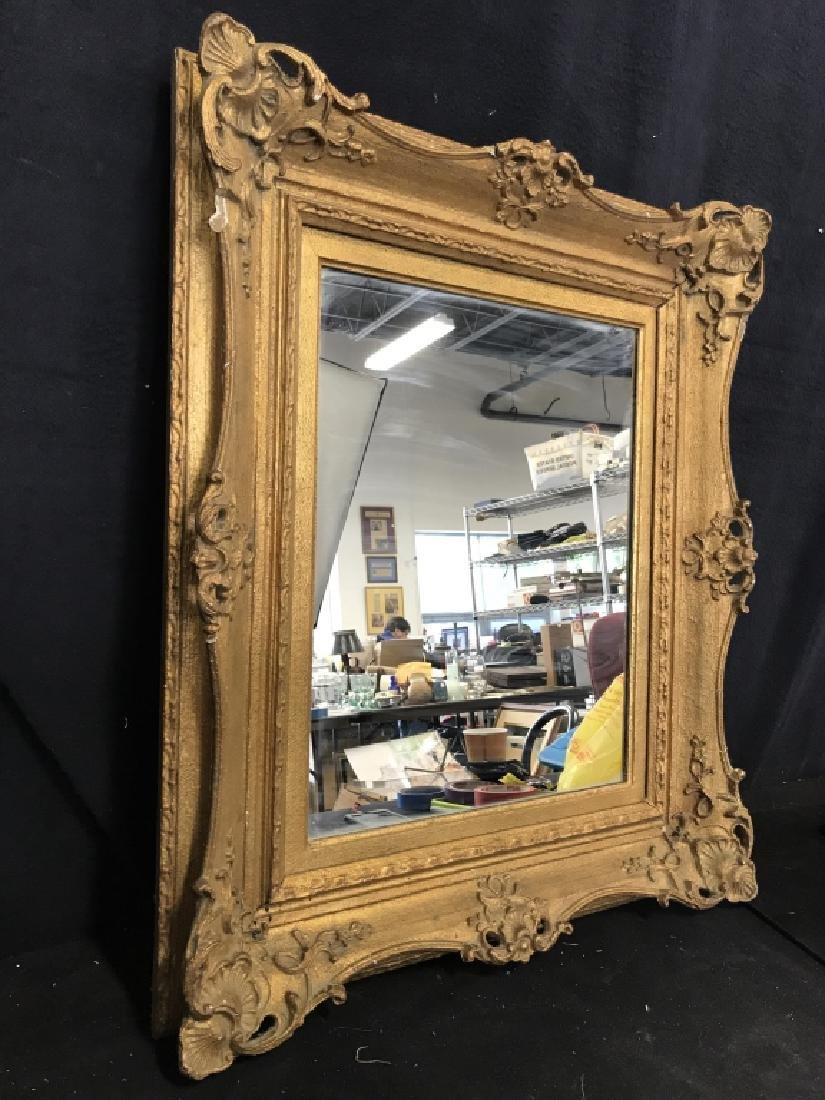 Vintage Gold Toned Ornate Mirror - 3