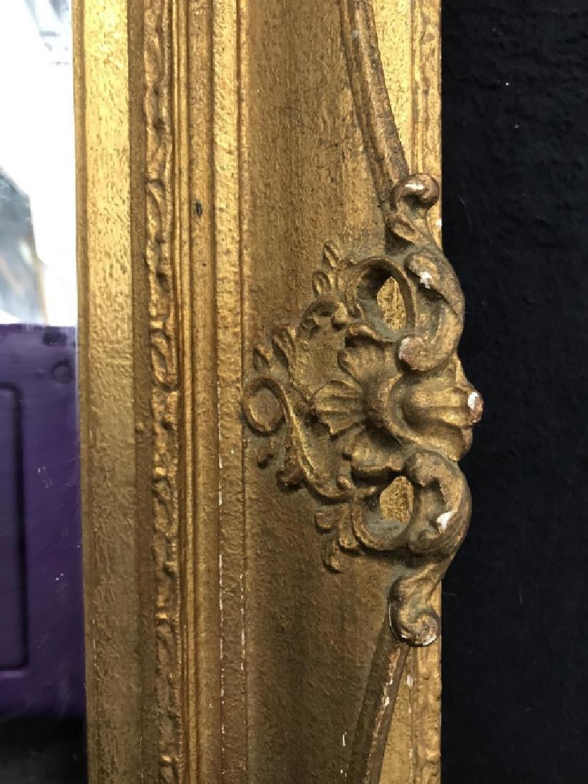 Vintage Gold Toned Ornate Mirror - 5