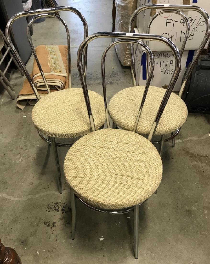 Set 3 Retro Chrome Side chairs