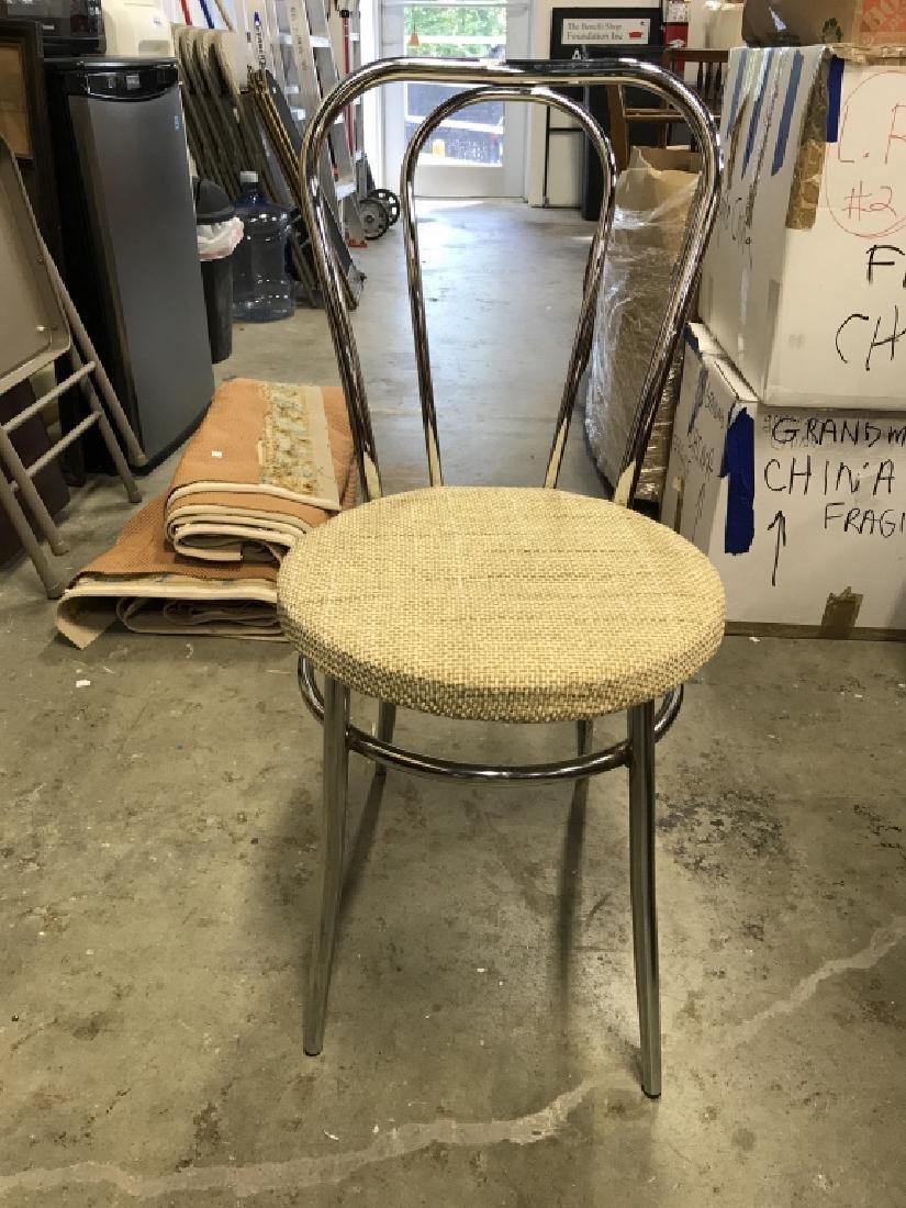 Set 3 Retro Chrome Side chairs - 4