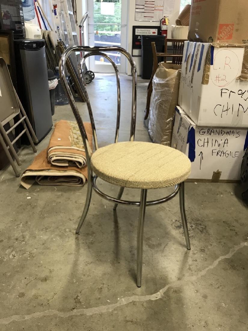 Set 3 Retro Chrome Side chairs - 5