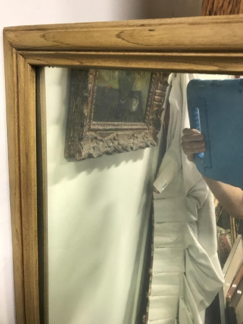 Large Carved Wood Framed Mirror - 2