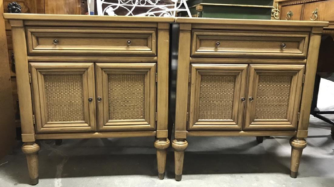 Pair WHITE FURNITURE CO. Wooden End Tables